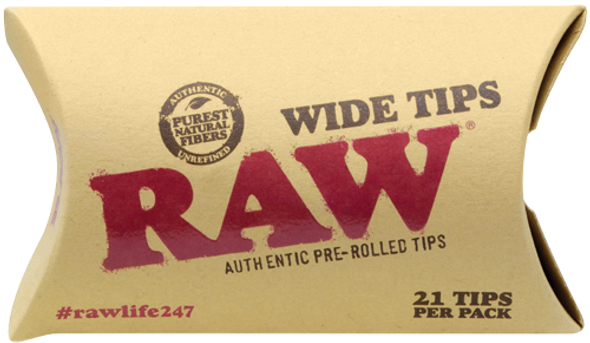 RAW Wide Pre-Rolled Tips 21 Pack