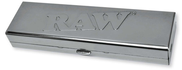 RAW Steel Paper Tin For King Size Slim + Pre-Rolled Tips