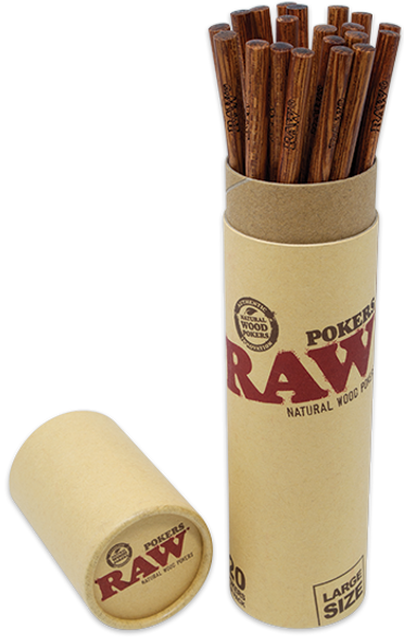 RAW Wooden Poker Large 225mm