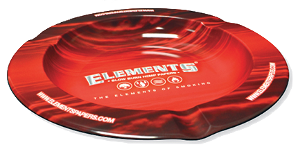 ELEMENTS Metal Ashtray Red