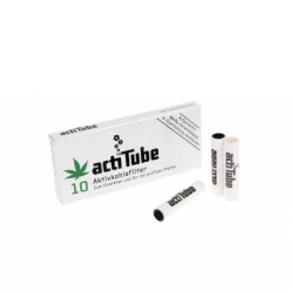 actiTube 8mm Charcoal Filters 10 per Pack