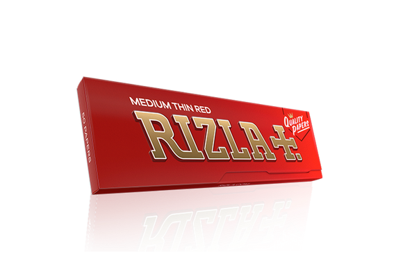 RIZLA Medium Thin Red Single Wide 70mm Rolling Papers