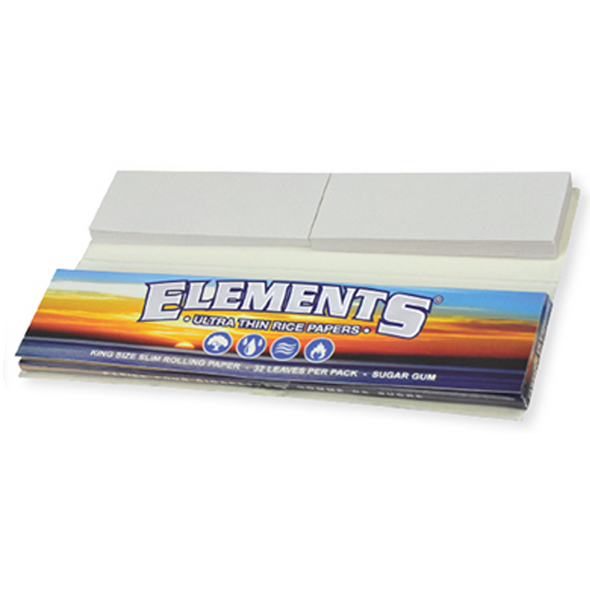 ELEMENTS Connoisseur King Size Slim Rolling Papers + Tips