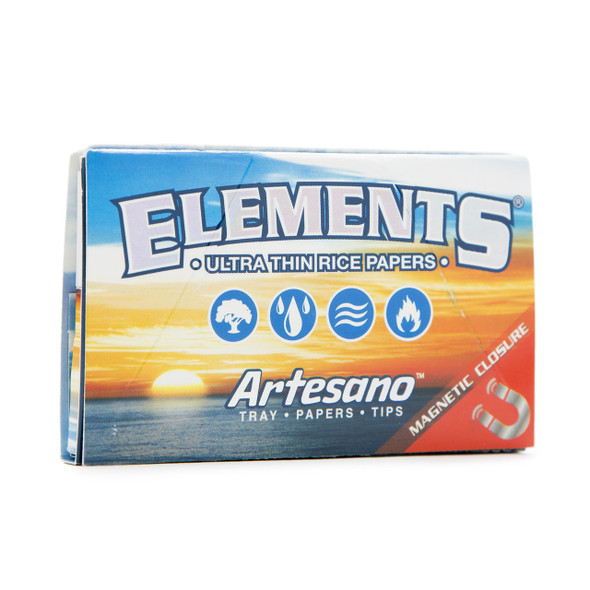 ELEMENTS Artesano 1-1/4 Rolling Papers + Tips + Tray