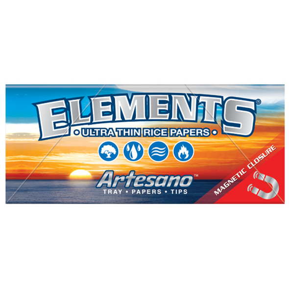 ELEMENTS Artesano King Size Slim Rolling Papers + Tips + Tray