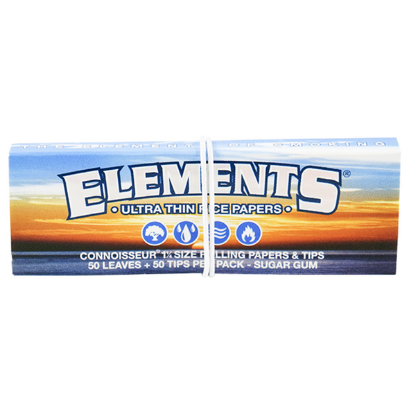 ELEMENTS Connoisseur 1-1/4 Rolling Papers + Tips