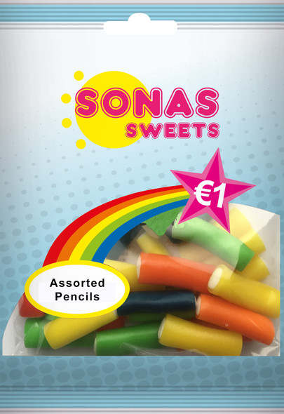SONAS  SWEETS Assorted Filled Pencils 100g