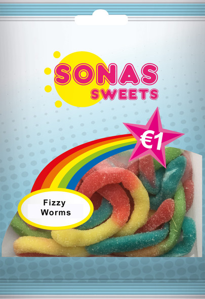 SONAS SWEETS Fizzy Worms 100g