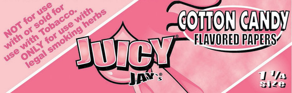 Juicy Jay's 1-1/4 Cotton Candy Flavoured Rolling Papers