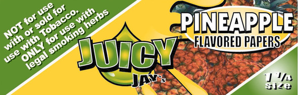 Juicy Jay's 1-1/4 Pineapple Flavoured Rolling Papers