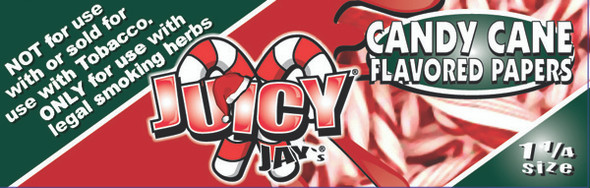 Juicy Jay's 1-1/4 Candy Cane Flavoured Rolling Papers