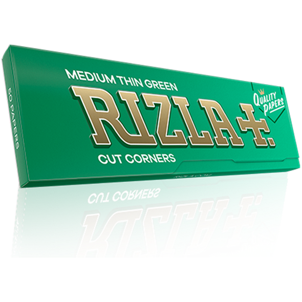 Rizla Medium Thin Green Single Wide Rolling Papers 70mm