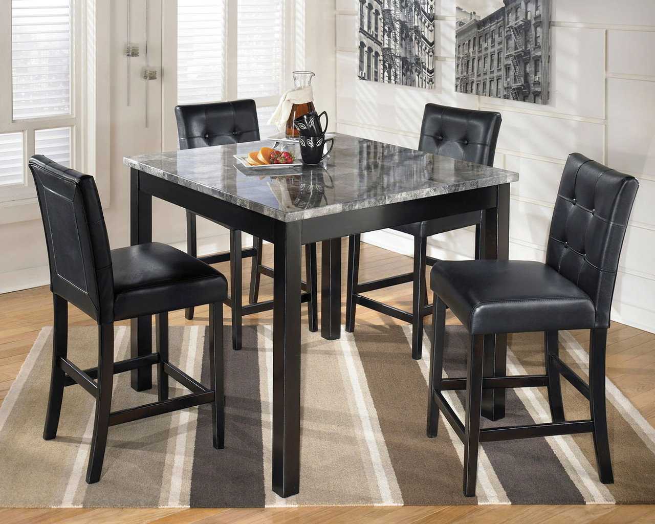 Brockton Counter Height Dining Set 5 Pc