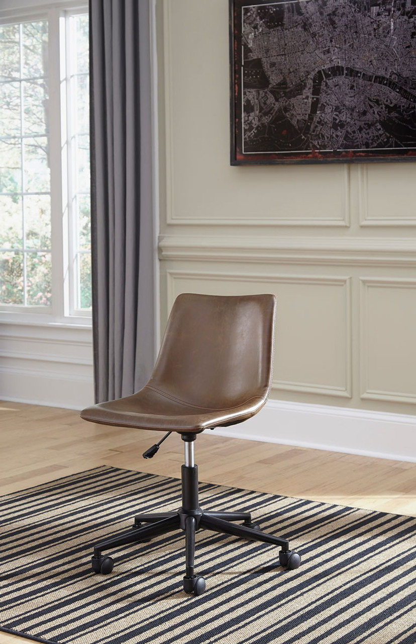The Office Chair Program Brown Home Office Swivel Desk Chair Available At Hometown Furnishings Retail Rent To Own Serving Brockton And Taunton Ma
