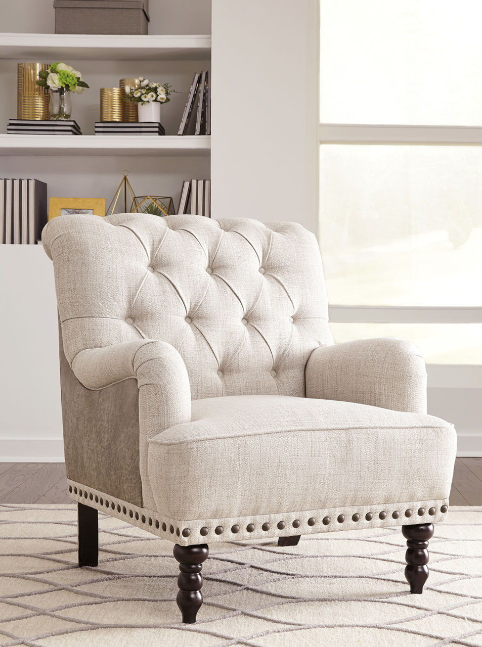 Rent A Center Accent Chairs.Tartonelle Ivory Taupe Accent Chair