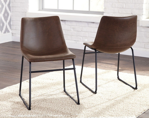 The Centiar Brown/Black Dining Upholstered Side Chair ...