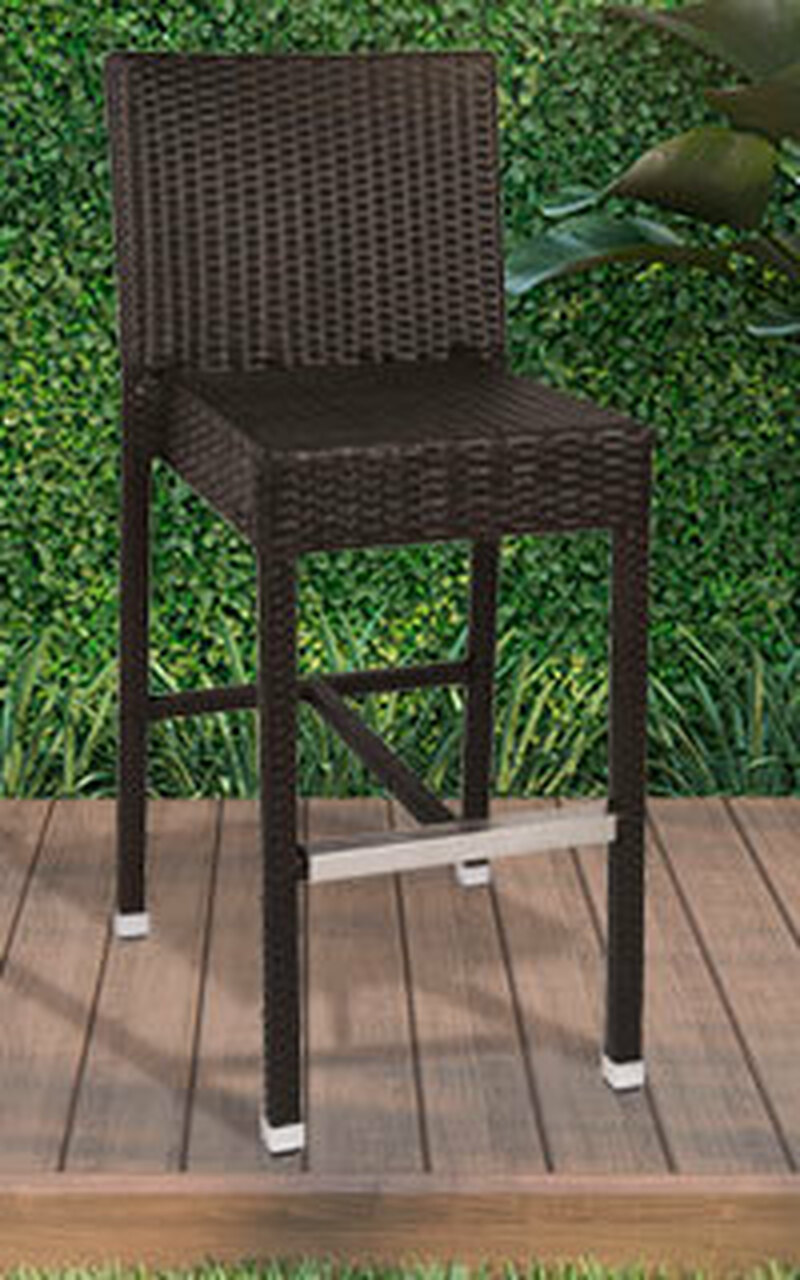 Synthetic Wicker Bar Stools