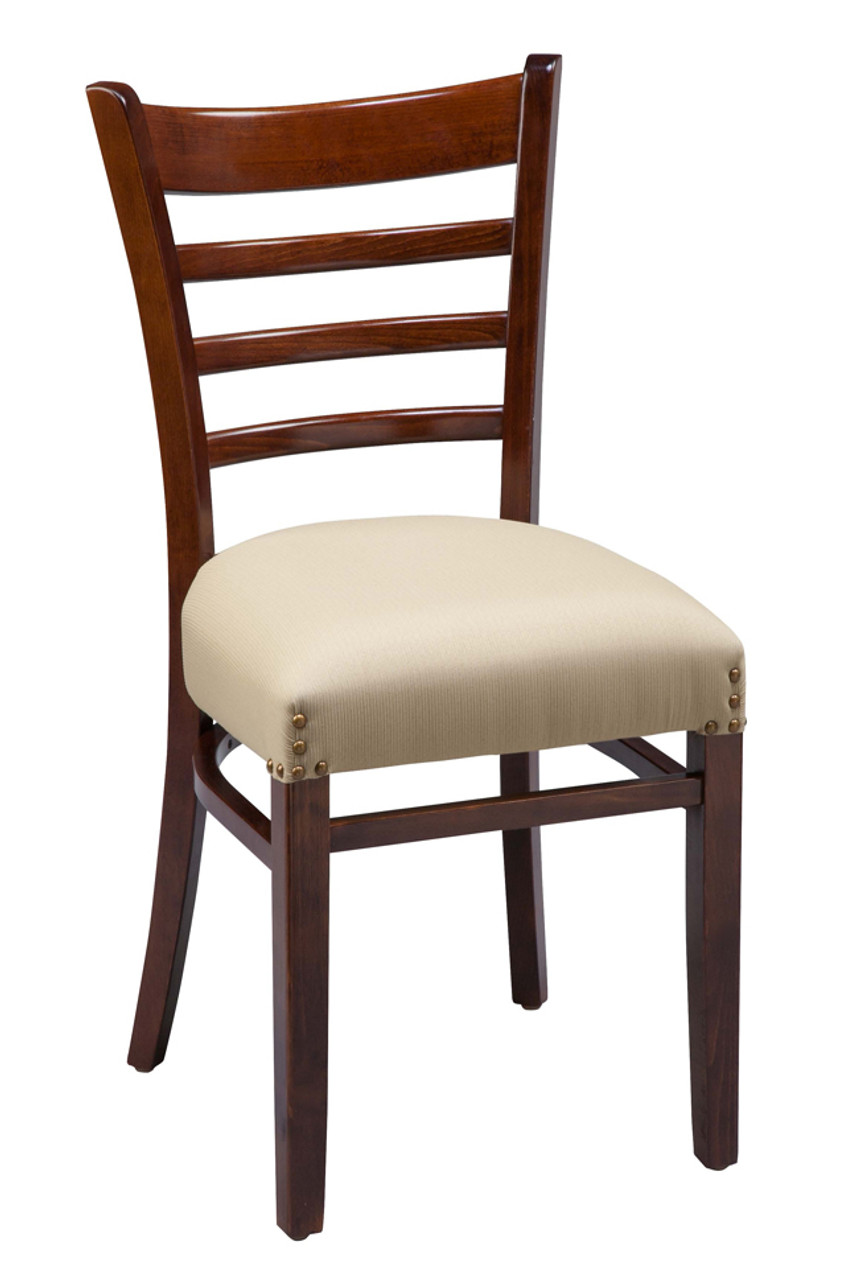 Wooden Ladder Back Commercial Dining Chair with Fully ...