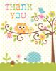 Woodland Happi Tree Thank You Cards (8)