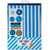 Baby Blue StripedTreat Bags with stickers (12)
