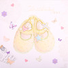Christening baby shoes Greeting Card