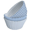 Gingham And Dots Blue Cupcake Cases