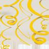 Yellow Paper Swirl Decorations (8)