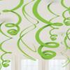 Green Paper Swirl Decorations (8)