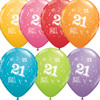 21st Assorted Latex Balloons (6)