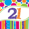 Bright And Bold 21st Lunch Napkins (18)