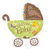 Welcome Baby Buggy Super Foil Balloon (79cm)
