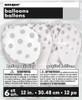 Silver polka dot latex balloons (6)