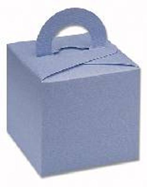 Silk Square Box with Handles Blue (DIY)