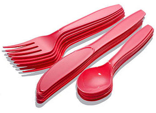 Red Cutlery Set (8)