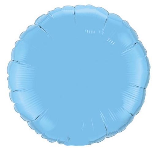 Pale Blue Round Foil Balloon (18 inch)