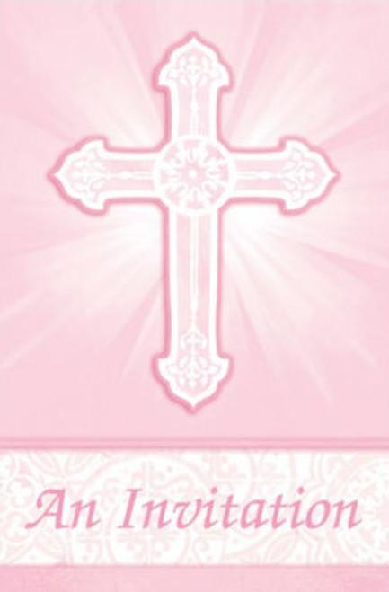 Radiant Cross pink Invites (8)