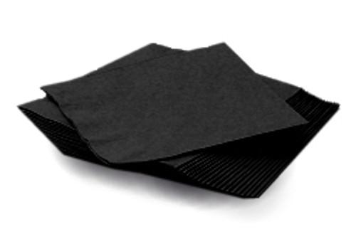 Black Plain Napkins (20)