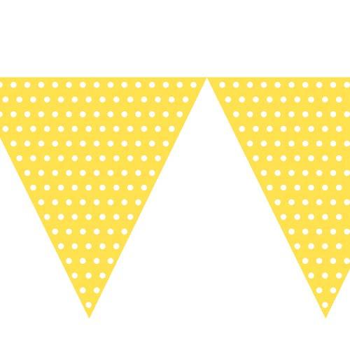 Polka Dot Bunting Flag Yellow (9ft Long)
