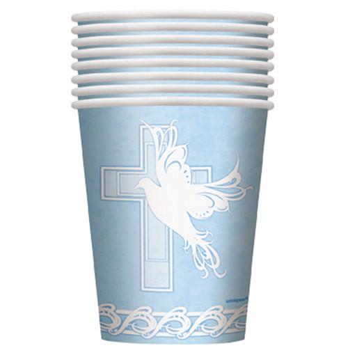 Dove Cross Blue Cups (8)