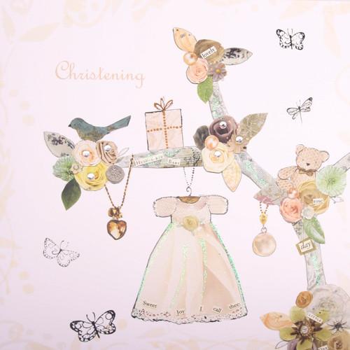 Christening Girl Dress Greeting card