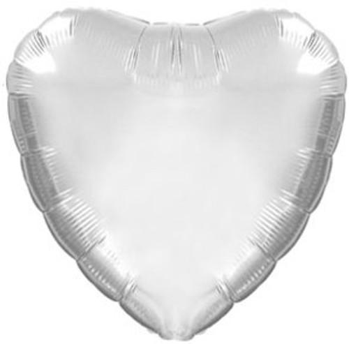 Silver Heart Foil Balloon (18in)