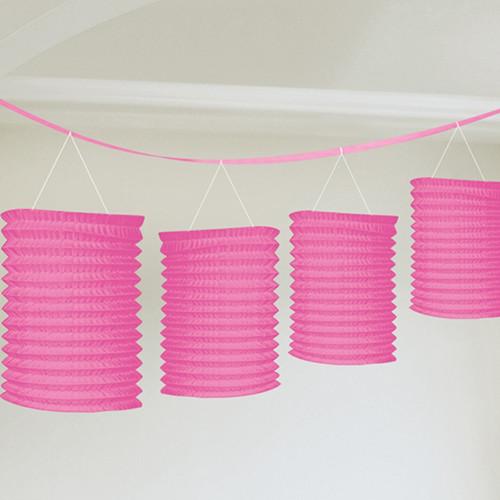 Pink Paper Lantern Garland (8)