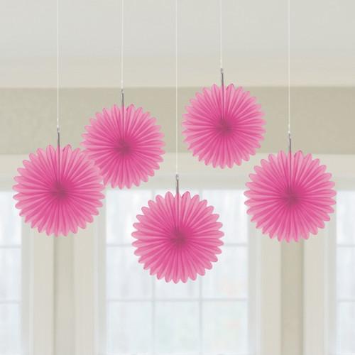 Mini Pink Hanging Fan Decoration (3)