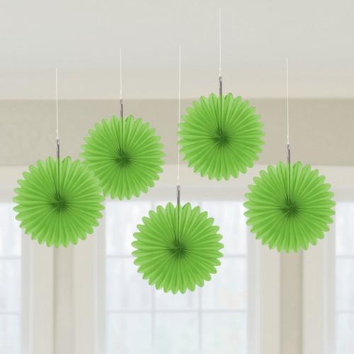 Mini Green Hanging Fan Decoration (3)