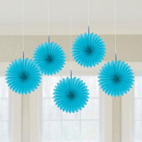 Mini Blue Hanging Fan Decoration (3)
