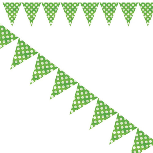 Green Big Dots Flag Bunting