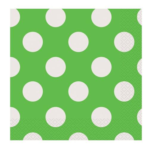 Green Big Dots Napkins (16)
