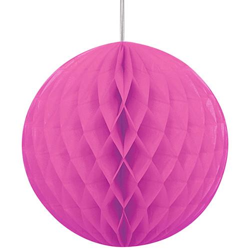 Pink Honeycomb Ball Paper Decoration (1)