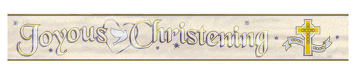 Joyous Christening Foil Banner (12ft)