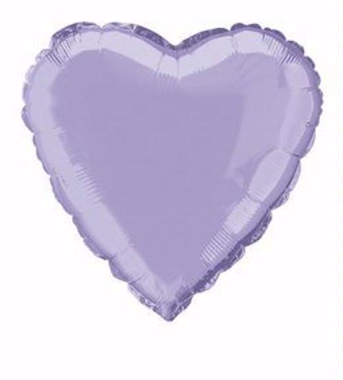 Lavender Heart Foil balloon (18in)